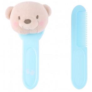 Cepillo y Peine Osito Azul