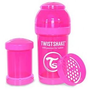 TwistShake Biberón 180ml Rosa