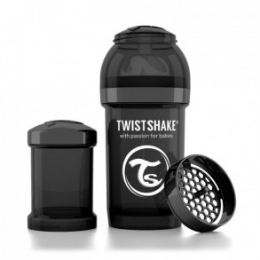 TwistShake Biberón 180 ml Negro