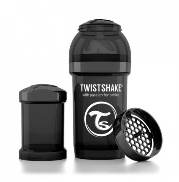 TwistShake Biberón 180 ml Negro