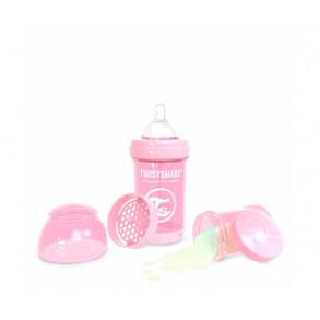 TwistShake Biberón 180ml Rosa Pastel