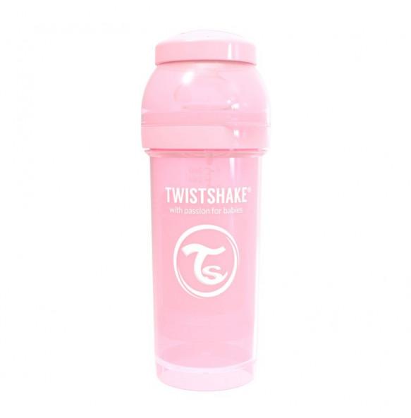 TwistShake Biberón 260ml Rosa Pastel