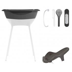 Bañera Set higiene Gris Oscuro y Blanco