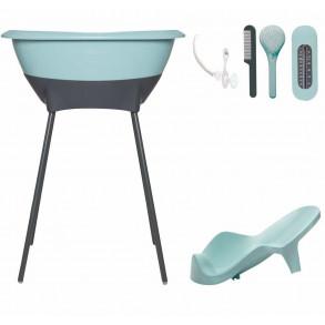 Bañera Set Higiene Mint y Gris