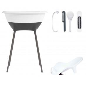 Bañera Set Higiene Blanco y Gris