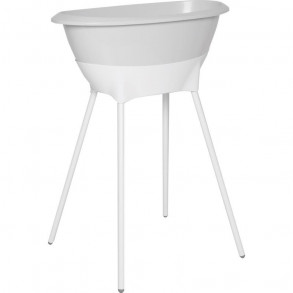 Bañera Set Higiene Gris y  Blanco
