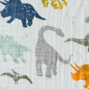 Muselina Algodón Dinosaurios 120 x 120