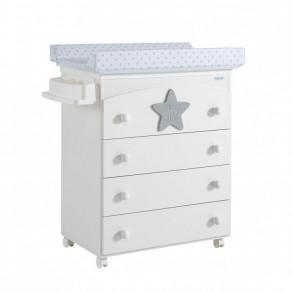 Cómoda Bañera Baby Star Gris