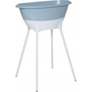Bañera Set Higiene Celeste y  Blanco