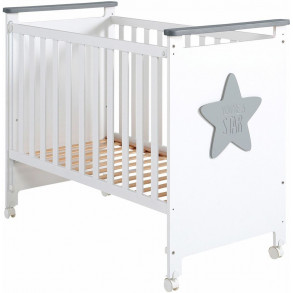 Cuna Baby Star Gris