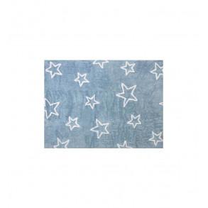 Alfombra Algodón Estrella Azul