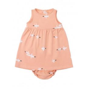 Vestido con Culotte Birds Salmó;n