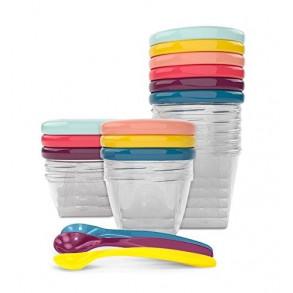 BabyBols Kit Recipientes y Cucharas Conservacion Alimentos