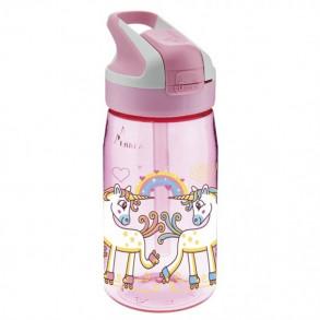 Botella con Pajita de Tritan Unicornio