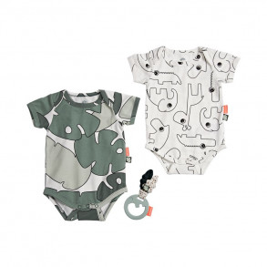 Set Bodys y Sonajero Tiny Tropics