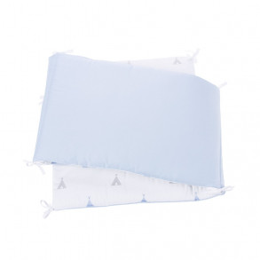 Protector Reversible Indiana Blue Cuna 120 x 60
