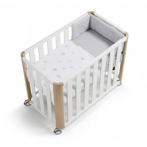 Minicuna Doco Sleeping Blanco / Natural Star Gris