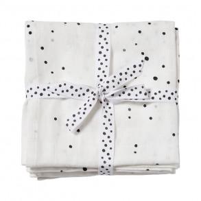 Pack 2 muselinas 120 x 120 Dreamy Dots Blanco