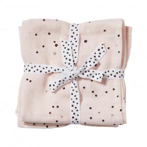 Pack 2 muselinas 120 x 120 Dreamy Dots Rosa