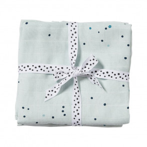 Pack 2 muselinas 70 x 70 Dreamy Dots Mint