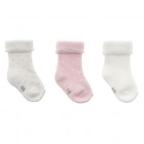 Calcetines Bebé Puntitos Rosa 3 Unidades